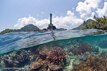 Navigation buoy at P. Karaka, Banda Neira, Banda Islands