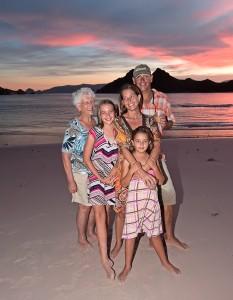 The Pet Family, Pink Beach at Pulau Pantar, Komodo, Annual Family Cruise 2010