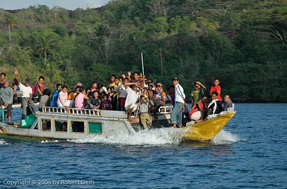 Water bus in the Banda Islands