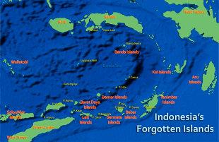 Forgotten Islands map