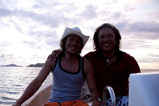 Incrrredible dive guides who are also brothers: Irwan and Franckie