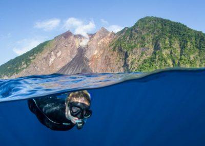 Snorkeling at Komba volcano
