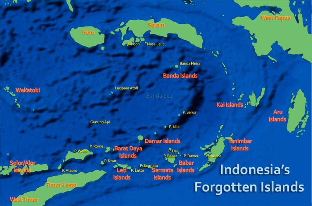 Spice Islands Indonesia Map