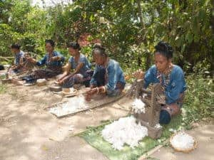 Watubelapi ikat weaving process