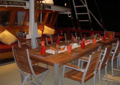 Dinner on top deck
