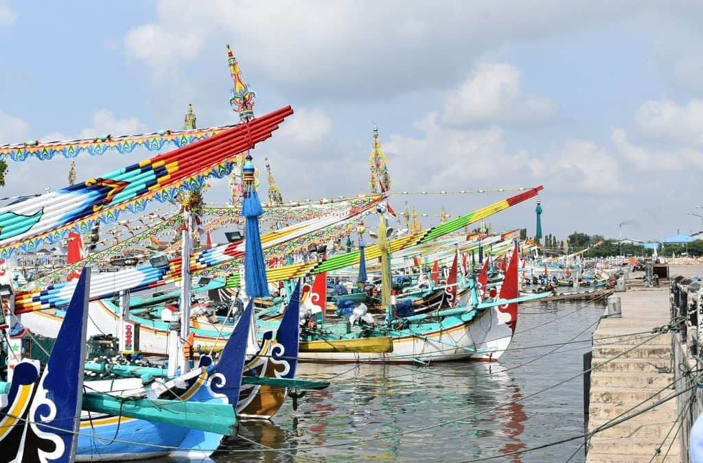 Fishing boats in Indonesia