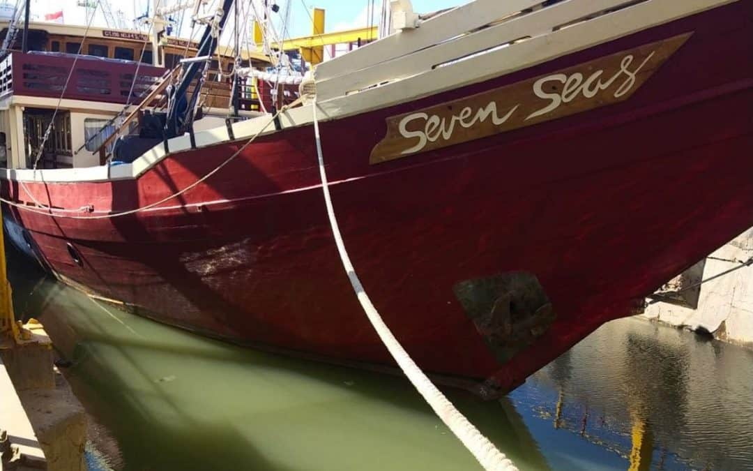 Seven Seas in dock