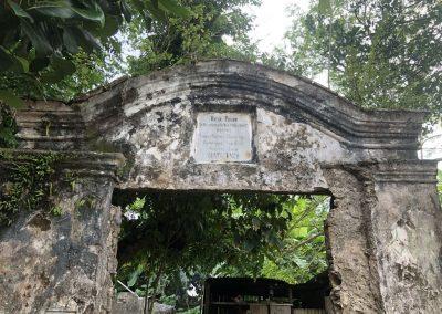 Old gate of a plantation at Pulau Ay