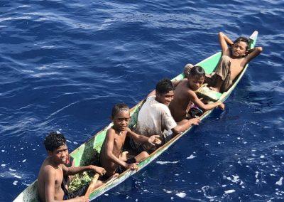 Young kids at Pulau Rhun