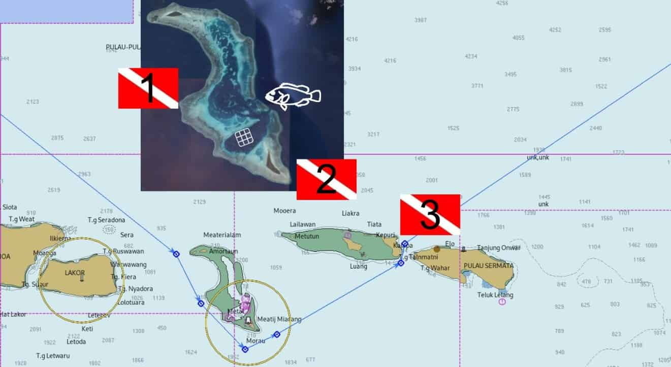 Reef fish spawning aggregation sites